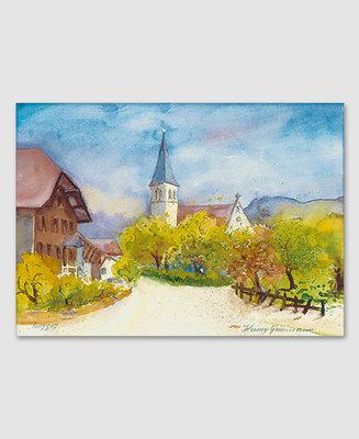 Ruggell mit Pfarrkirche