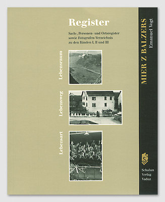 Mier z Balzers - Register