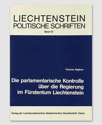 LPS 13 - Die parlamentarische Kontrolle über die Regierung