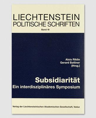 LPS 19 - Subsidiarität: Ein interdisziplinäres Symposium