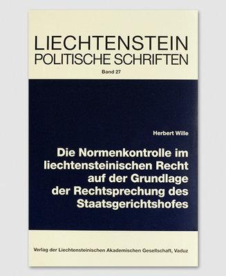 LPS 27 - Normenkontrolle im liechtensteinischen Recht