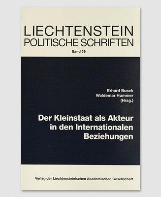 LPS 39 - Der Kleinstaat als Akteur in den Int. Beziehungen
