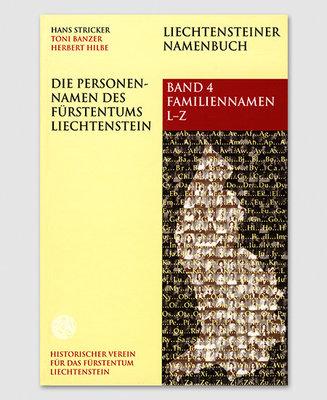 Liechtensteiner Namenbuch: Die Personennamen des Fürstentums