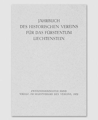 Jahrbuch des Historischen Vereins Band 72
