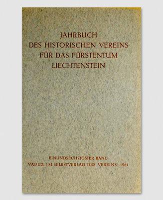 Jahrbuch des Historischen Vereins Band 61