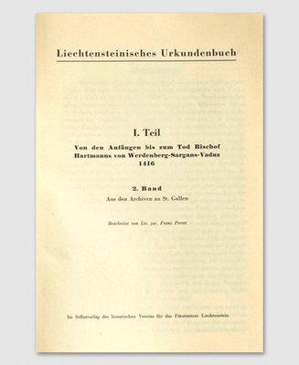 Liechtensteinisches Urkundenbuch (2. Band)