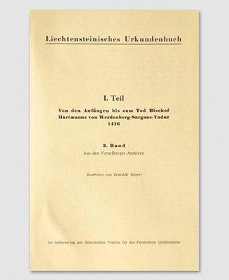 Liechtensteinisches Urkundenbuch (3. Band)