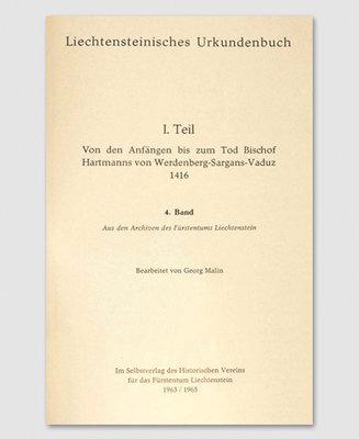 Liechtensteinisches Urkundenbuch (4. Band)