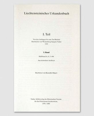 Liechtensteinisches Urkundenbuch (5. Band), 2 Bände