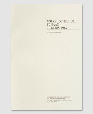 Volkshochschule Schaan 1948-1967