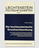 LPS 20 - Die liechtensteinische Grundrechtsordnung