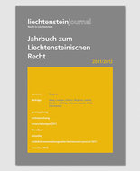 Jahrbuch zum Liechtensteinischen Recht 2011/2012